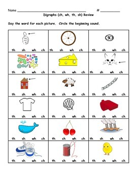 Digraphs (ch, sh, th, wh)