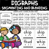 Digraphs (ch,sh,th,wh): Segmenting and Blending Cards