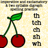 Digraphs ch, tch, wh, th, sh - Multisyllable Words - 2nd Grade Spelling