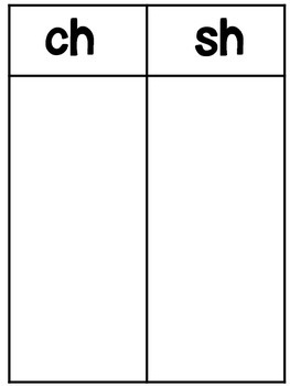 Digraphs : ch verses sh