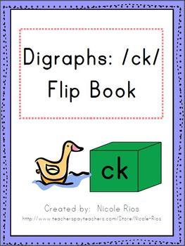 Digraphs: /ck/ Word Work Flip Book