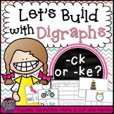 Digraphs Word Work (-ck or -ke?)