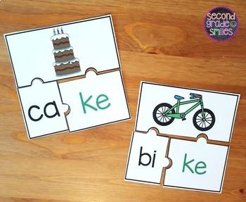 Digraphs Word Work (-ck or -ke?)