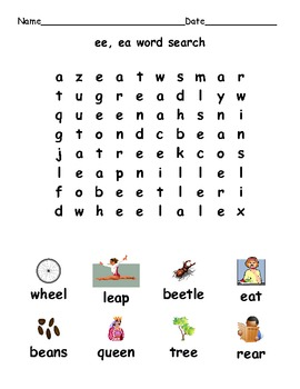 Digraphs ea and ee