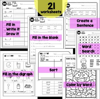 Digraphs ew, ue, ui, oo