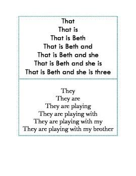 Digraphs fluency pyramids