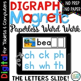 Digraphs Digital Word Work - Paperless Phonics Centers for
