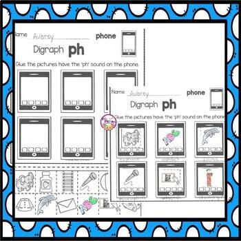 Digraphs for Kindergarten and 1st Grades FREE