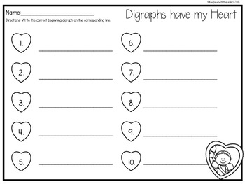 Digraphs have my Heart with Recording Sheet
