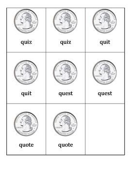 Digraphs ph and qu Memory Game