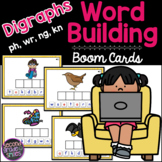 Digraphs (ph, wr, ng, kn) Word Building Boom Cards