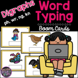 Digraphs (ph, wr, ng, kn) Word Typing Boom Cards