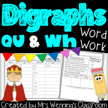 Digraphs, qu and wh, a Full Week of Lesson Plans and Activities!