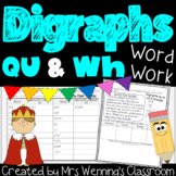 Digraphs qu and wh Pack! A Full Week of Lesson Plans, Word