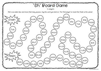 Digraphs: sh Board Game