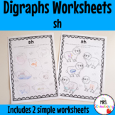 Digraphs: sh Worksheets