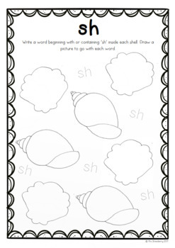 Digraphs: sh Worksheets