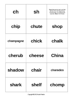 Digraphs sh and ch booklet