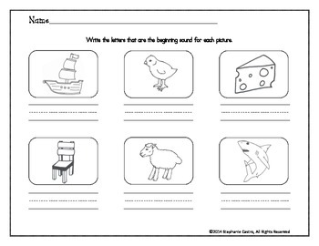 Digraph Worksheets: /sh/ /ch/