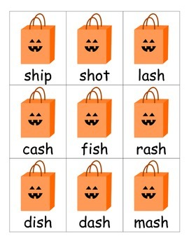 Digraphs sh, ch, th, and wh Card Game - Halloween-Themed!