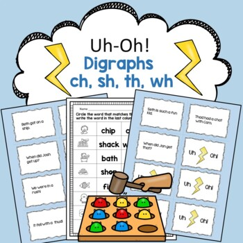 Digraphs sh, ch, wh, th Reading Fluency Practice Game