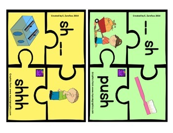 Digraphs sh & th Puzzle