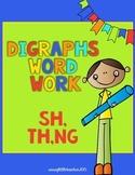 Digraphs (sh, th, ng) Word Work