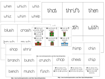 Digraphs (sh, wh, ch, th) Christmas Literacy Center/Games