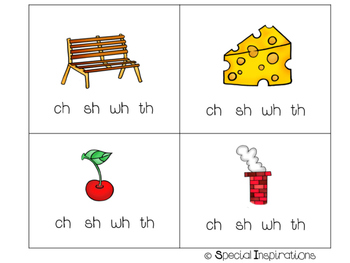 Digraphs (sh, wh, ch, th)  Literacy Center/Phonics Flip Book
