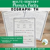 Digraphs TH Orton-Gillingham Level 1 Multisensory Phonics Activities