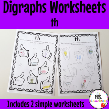 Digraphs: th Worksheets