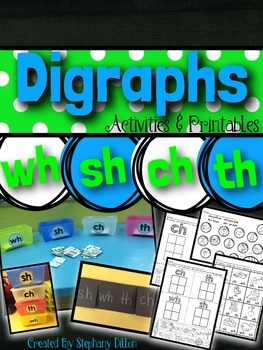 Digraphs { th, sh, ch, wh } Activities and Printables