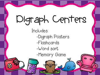Digraph Centers/Posters/Sight Words - th, sh, ph, wh, ch