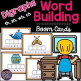 Digraphs Boom Cards (th, sh, wh, ch) - Word Building   Distance Learning
