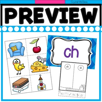 Digraphs th, wh, ph, sh, ch Literacy Center Sorting Activities