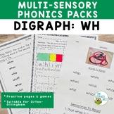 Digraphs WH Orton-Gillingham Level 1 Multisensory Phonics Activities