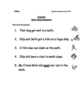 Reading Packets: 6-10 Digraphs,Blends, Digraph/Three Letter Blends