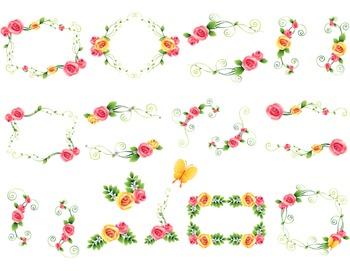Digtal Floral Frame Clip Art Flower Frames Digital Rose Frame ClipArt