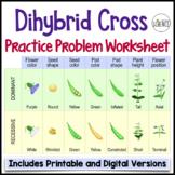 Genetics:  Dihybrid Punnett Square Practice Problem Worksheet