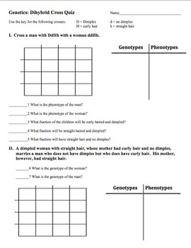 Dihybrid Cross Worksheet Answer Key Worksheets For School ...