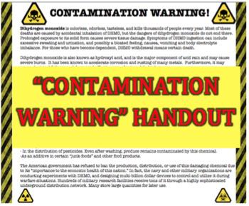 Scientific Writing Task - Dihydrogen Monoxide (Common Core Approved)