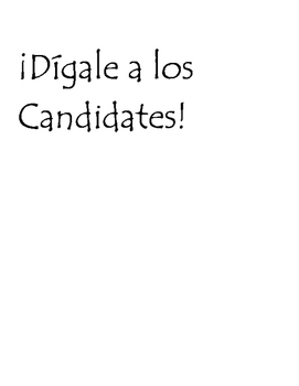 Dijale a los Candidades Spanish Commands activity