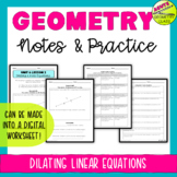 Dilating Linear Equations (Guided and Independent Practice)