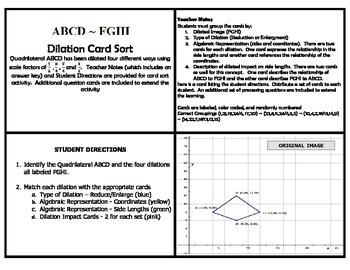 Dilation Card Sort