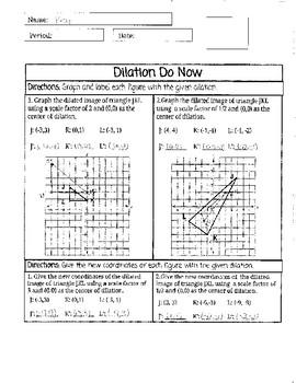 Dilation Do Now