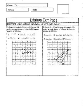 Dilation Exit Pass