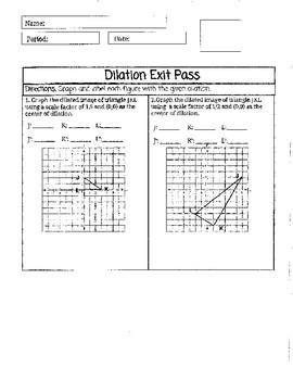 Dilation Exit Pass
