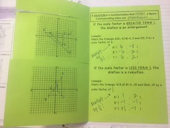 Dilation Foldable/Notes