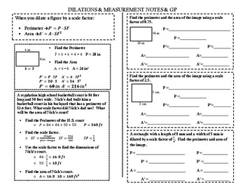 Dilation & Measurement Notes & GP