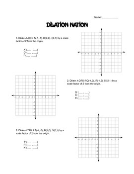 dilation nation by moon math teachers pay teachers. Black Bedroom Furniture Sets. Home Design Ideas